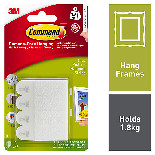 Command Small Picture Hanging Strips - White Pack
