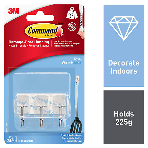 Command Wire Utensil Hooks - Clear Pack of