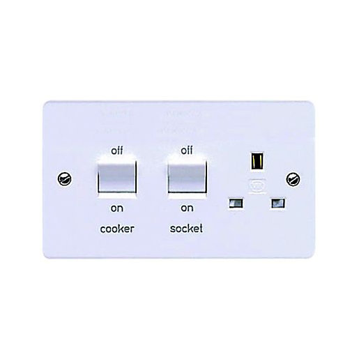 MK 45A Double Pole Cooker Switch & Socket