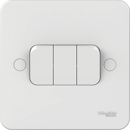 Lisse 3 Gang 2 Way Switch