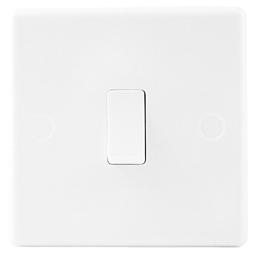 wickes 10a light switch 1 gang 2 way white slimline
