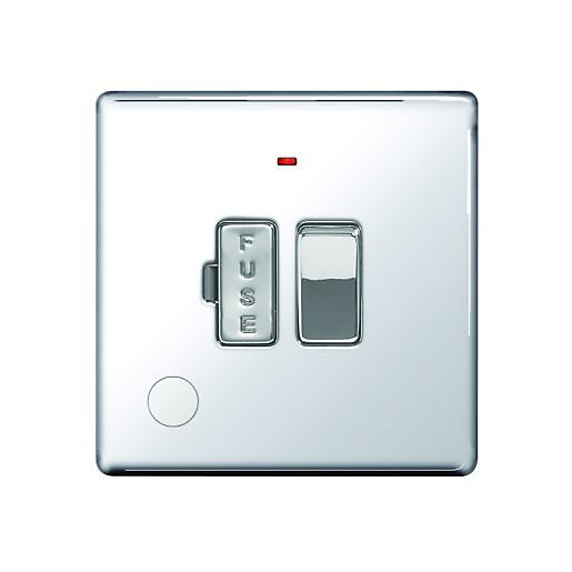 Wickes 13A Switched Fused Socket + LED Screwless