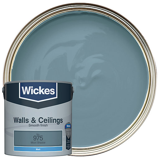 Wickes Colour Home Vinyl Matt Emulsion Paint Moon Shadow 2 5l
