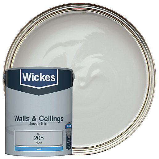 Wickes Colour Home Vinyl Matt Emulsion Paint Nickel 5l Wickes