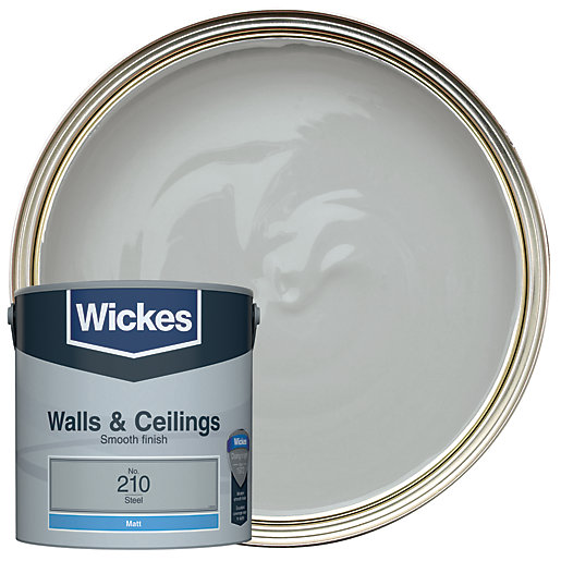 Wickes colour home vinyl matt emulsion paint steel 25l mouse over image for a closer look aloadofball Images