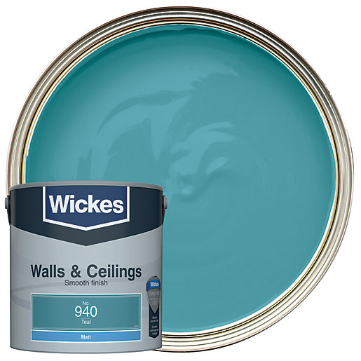 Wickes Teal - No. 940 Vinyl Matt Emulsion