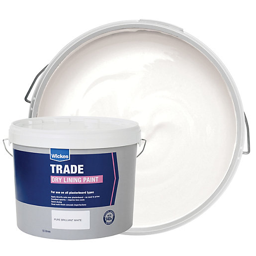 Wickes trade dry lining emulsion paint pure brilliant for Can you use emulsion paint on canvas