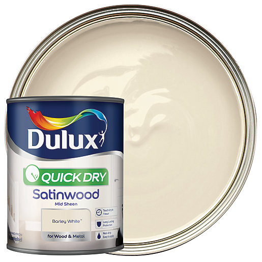 Dulux Quick Dry Satinwood Paint - Barley White