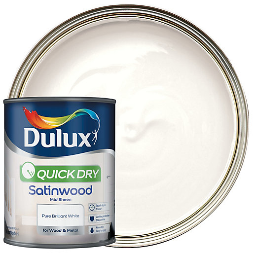 Dulux Quick Dry Satinwood Paint - Pure Brilliant