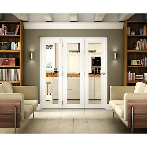 Wickes Belgrave Internal Folding 3 Door Set White Pre