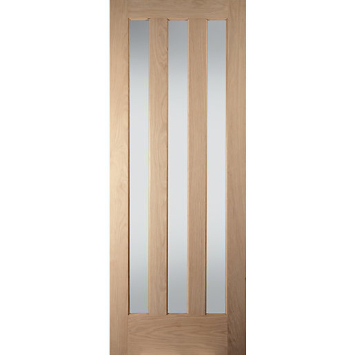 Jeld-Wen Aston Obscure Glazed Oak 3 Lite Internal