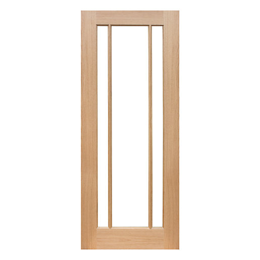 Mouse over image for a closer look.  sc 1 st  Wickes & Wickes York Internal Glazed 3 Panel Oak Veneer Door - 1981 x 762mm ...