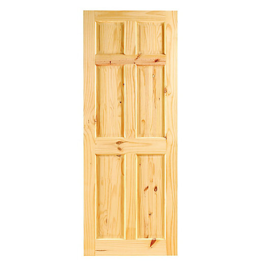 Wickes Lincoln Internal Knotty Pine 6 Panel Softwood Door   1981 X 762mm