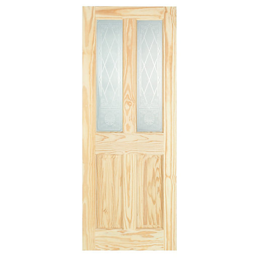 Mouse over image for a closer look.  sc 1 st  Wickes & Wickes Skipton Internal Clear Pine Glazed 4 Panel Softwood Door ...