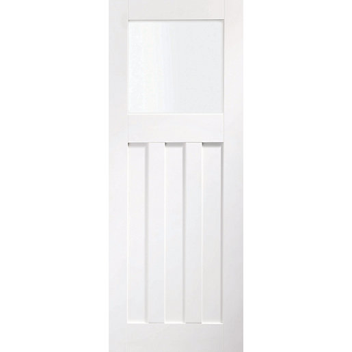 XL Joinery DX Glazed White Softwood 3 Panel