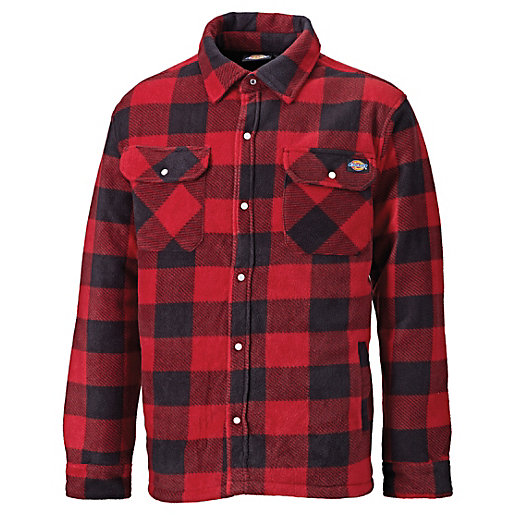 Dickies Red Portland Checked Padded Shirt XL