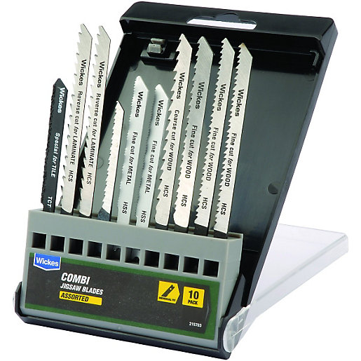 Wickes Assorted Universal Shank Jigsaw Blade - Pack