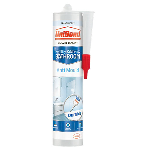 UniBond Anti-Mould Kitchen and Bathroom Silicone Sealant -