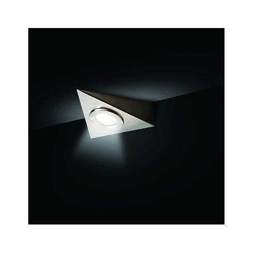 Wickes Bondi Brushed Chrome Dimmable Cabinet Downlight -