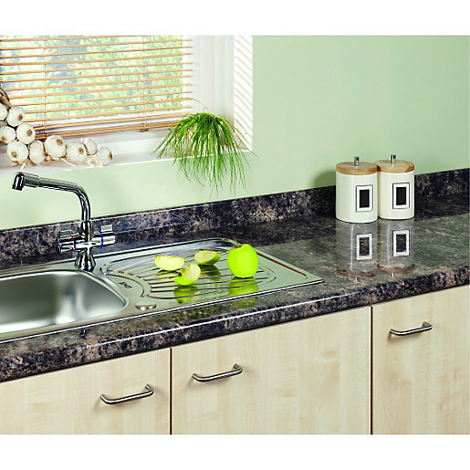 green kitchen worktop wickes laminate upstand caribbean gloss 3000 x 70 x 12mm 1455