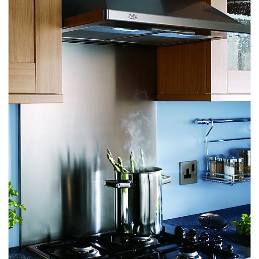 Wickes Splashback   Stainless Steel 598 X 699 X 15mm