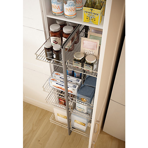 Wickes larder pull out 3 4 height 600mm for 600mm tall kitchen unit