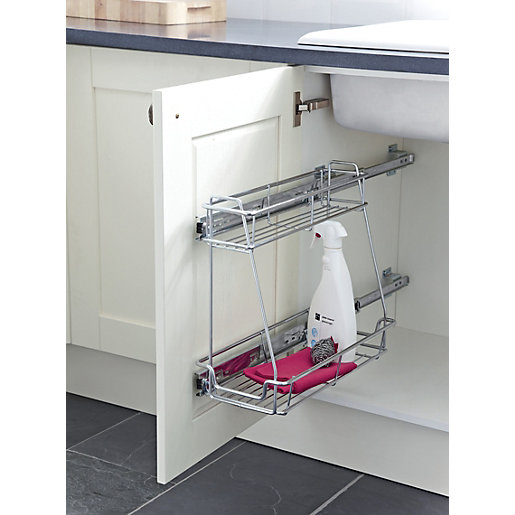 under sink organizer kitchen wickes sink pull out wickes co uk 6566