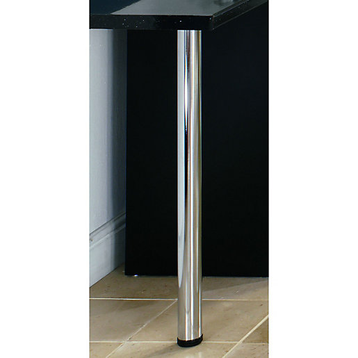 Wickes Worktop Support Leg Chrome 870mm Wickes Co Uk