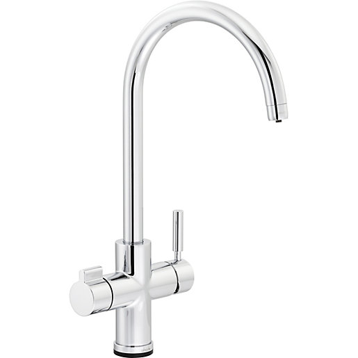 Abode Contax Single Lever Touch Tap Chrome Wickes Co Uk