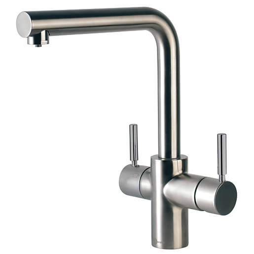 InSinkErator Epira 3 in 1 Tap Brushed Steel