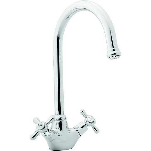 Wickes Angara Mono Mixer Kitchen Sink Tap Chrome | Wickes