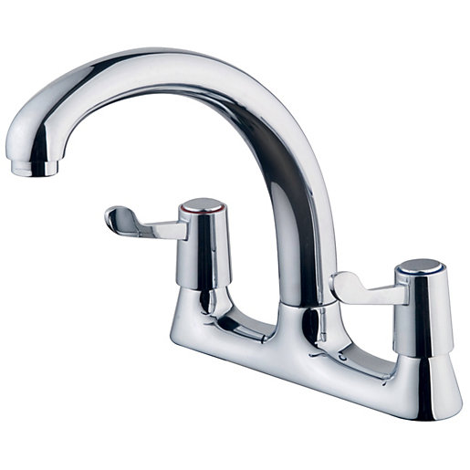 wickes modena deck kitchen sink mixer tap chrome. Black Bedroom Furniture Sets. Home Design Ideas