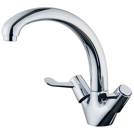 wickes modena monobloc kitchen sink mixer tap chrome. Black Bedroom Furniture Sets. Home Design Ideas