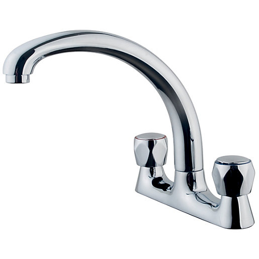 Wickes Trade Deck Kitchen Sink Mixer Tap - Chrome | Wickes.co.uk
