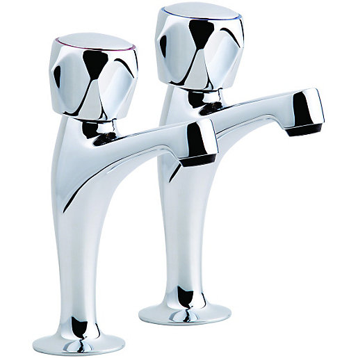 Wickes Trade Pillar Kitchen Sink Taps Chrome | Wickes.co.uk