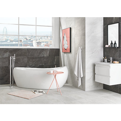 Wickes Amaro Linen Porcelain Tile 615 x 308mm | Wickes.co.uk