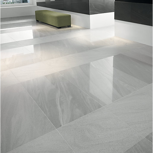 Grey polished porcelain floor tiles gurus floor Porcelain tile flooring