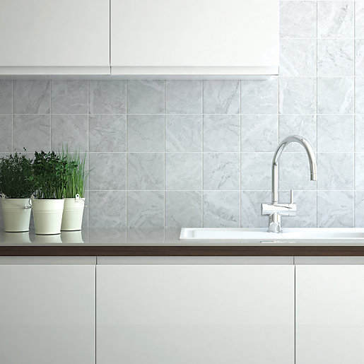 wickes kitchen wall tiles wickes azzara connect grey field ceramic tile 150 x 150mm 1531