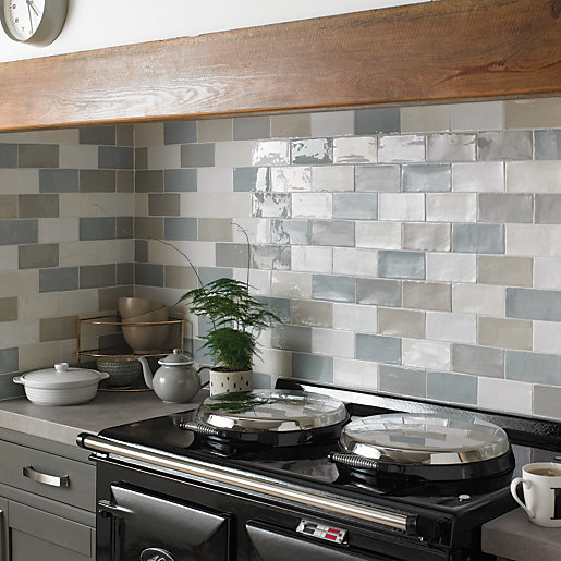 Silver Kitchen Wall Tiles: Wickes Farmhouse Willow Ceramic Tile 150 X 75mm