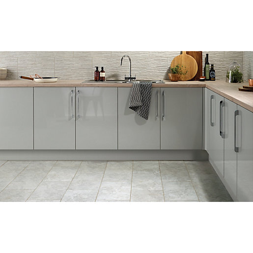 Grey Kitchen Floor Tiles Uk: Wickes Mayfield Grey Ceramic Tile 500 X 300mm