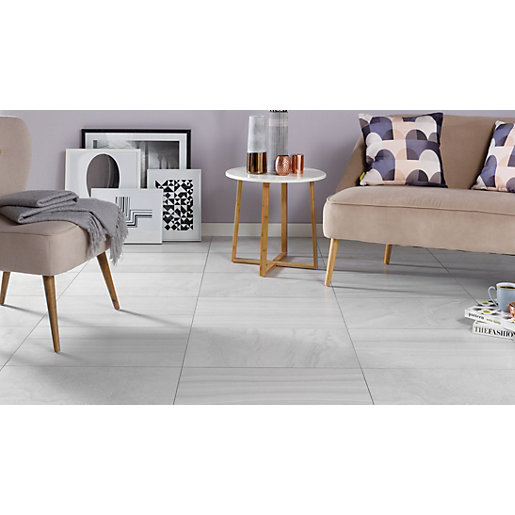 Wickes Replica Grey Ceramic Tile 498 X 298mm Wickes