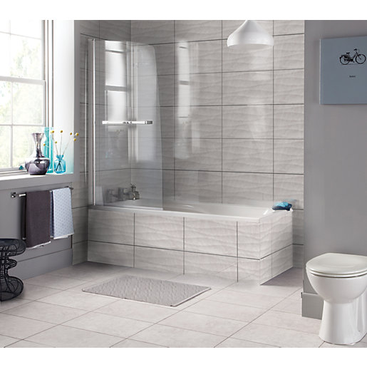 Wickes Replica Wave Grey Ceramic Tile 498 x 298mm | Wickes.co.uk