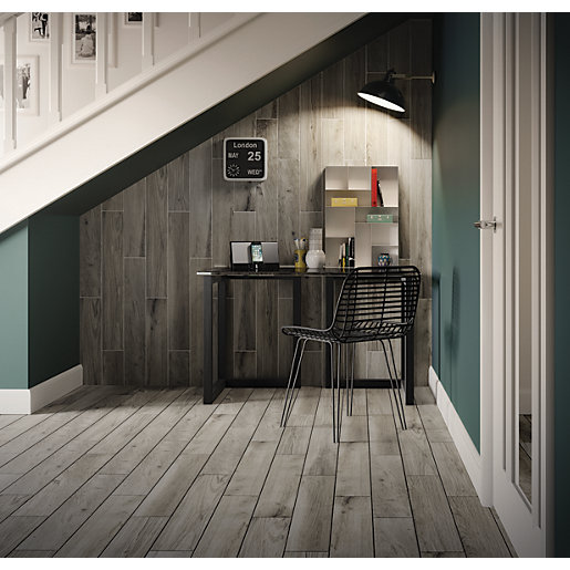 travis perkins bathroom tiles wickes selwood weathered grey porcelain tile 900 x 150mm 21034
