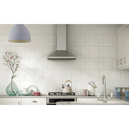 Kitchen Pictures For Wall: Wickes White Ceramic Wall Tile 200 X 250 Mm
