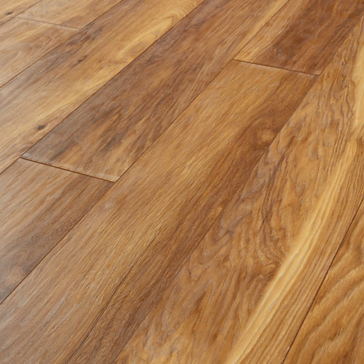 Wickes madera light hickory laminate flooring for Floating laminate floor