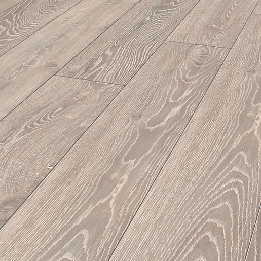 Wickes Shimla Grey Oak Laminate Flooring 222m2 Pack Wickes