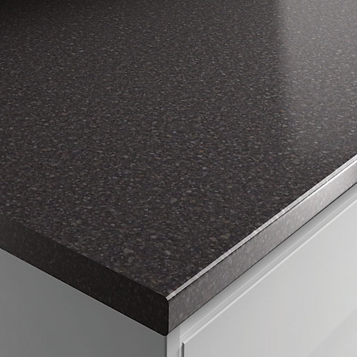 Wickes Laminate Worktop Taurus Black Gloss 600mm X 38 Mm X 3m Wickes Co Uk