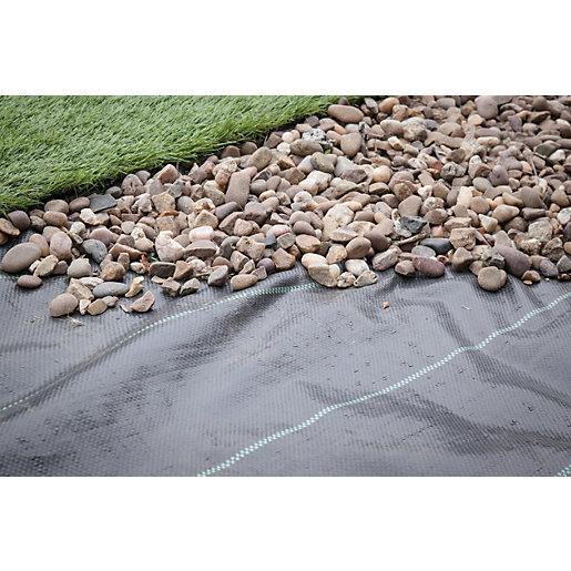 Mouse over image for a closer look. - Apollo Heavy Duty Weed Control Landscape Fabric - 1m X 20m Wickes