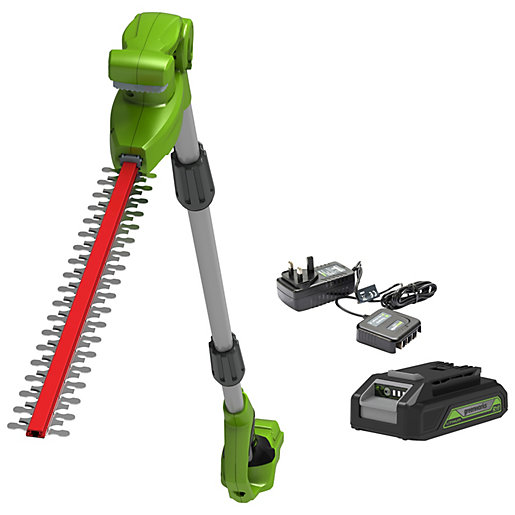 24V 51cm 20inch Long Reach Cordless Hedge Trimmer