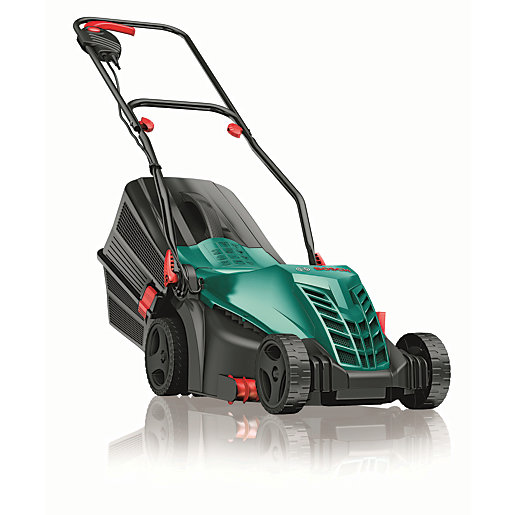 bosch arm 360 electric lawnmower 37cm. Black Bedroom Furniture Sets. Home Design Ideas